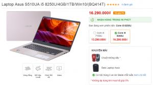 aptop Asus S510UA i5 8250U