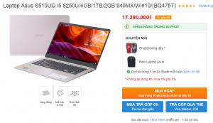 Laptop Asus S510UQ i5 8250U