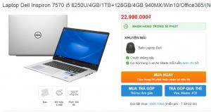 Laptop Dell Inspiron 7570 i5 8250U
